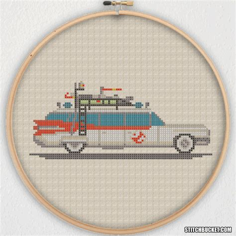 Pattern Instant ecto 1 ghostbusters cross stitch pattern instant
