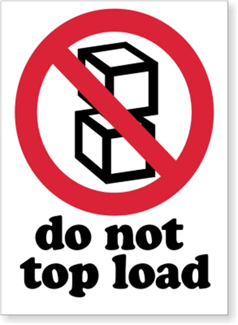 not loading top load only labels