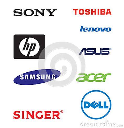 lap top brands logos editorial photo image