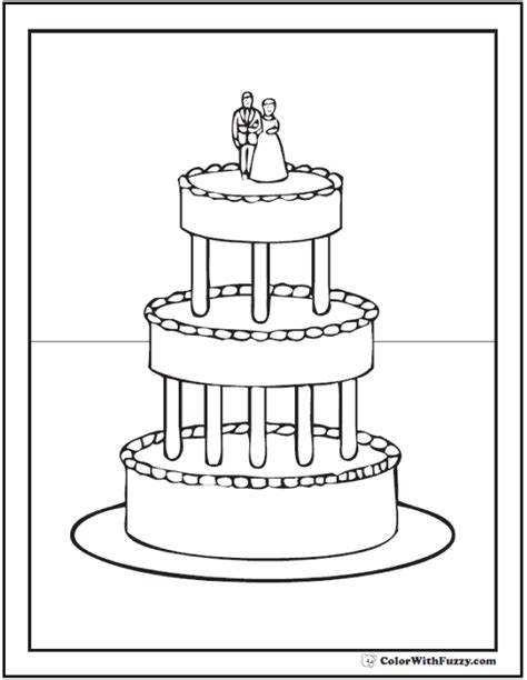coloring pages wedding cakes 20 cake coloring pages customize pdf printables