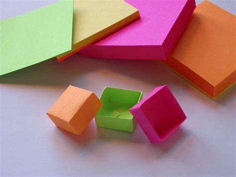 note origami origami post it box sticky notes and origami