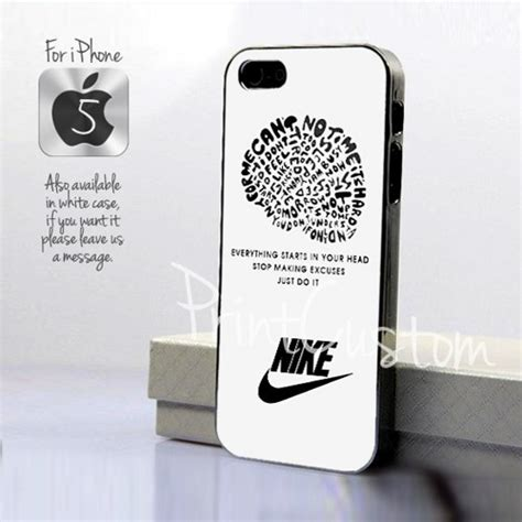 Nike Just Do It Quote Iphone 7 nike just do it quote logo design for iphone 5 black
