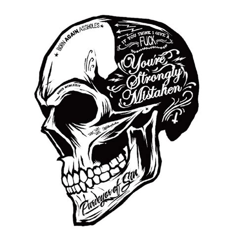 Headl Zoom Hitam black white skull cool motorcycle stickers motor decals helmet sticker on car styling on fuel