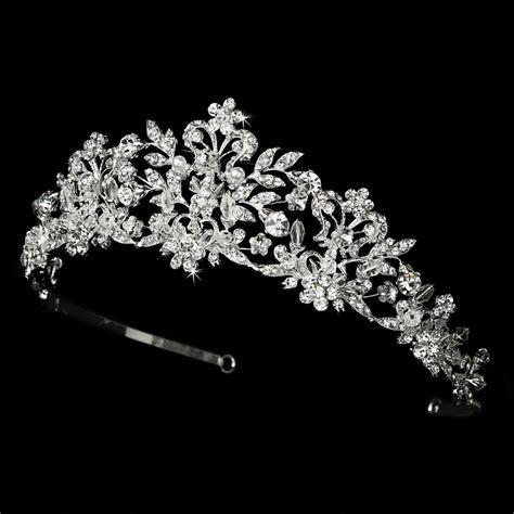 braut diadem swarovski swarovski and freshwater pearl bridal tiara hp 7102