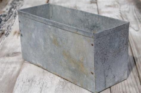 Galvanized Metal Planter Boxes by Rustic Vintage Zinc Planter Farm Primitive Galvanized