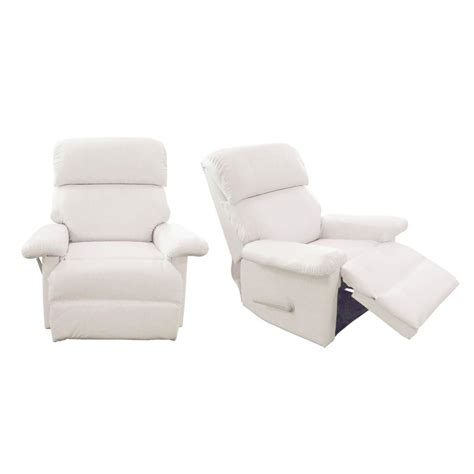 White Leather Recliner 4 Jitco Furniture