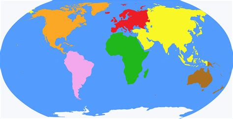 image of world map with continents the gallery for gt world globe map continents