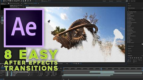 tutorial after effect transition 8 easy after effects transitions tutorial youtube