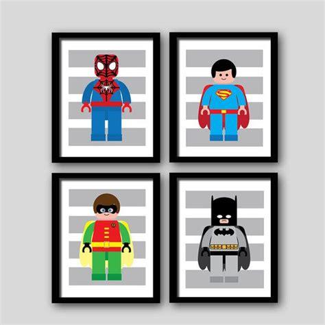 lego superhero bedroom superhero wall art prints super heroes batman spiderman