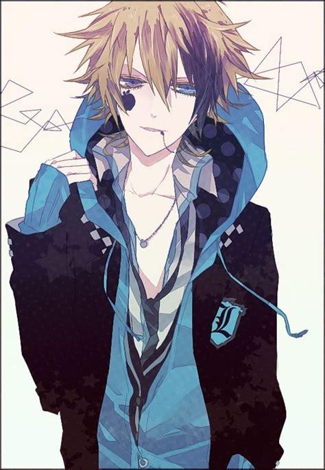 anime boy anime heterochromia odd eyes grey blue anime guys