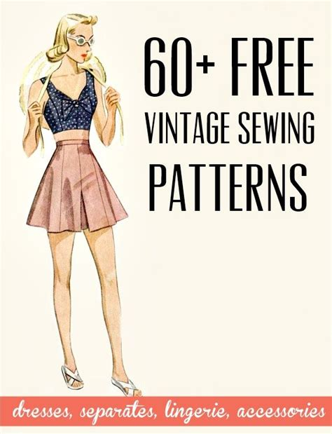 sewing pattern ideas free free vintage and retro dress sewing patterns separates
