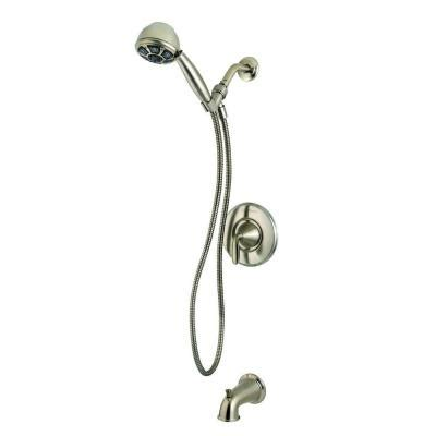 pfister pasadena single handle tub and shower faucet with