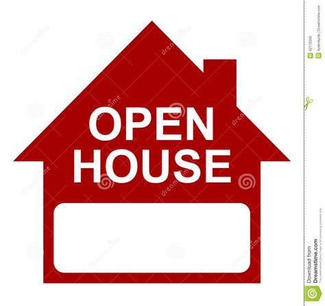 how to do an open house open house stock vector image 42172390