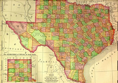 texas in the map maps