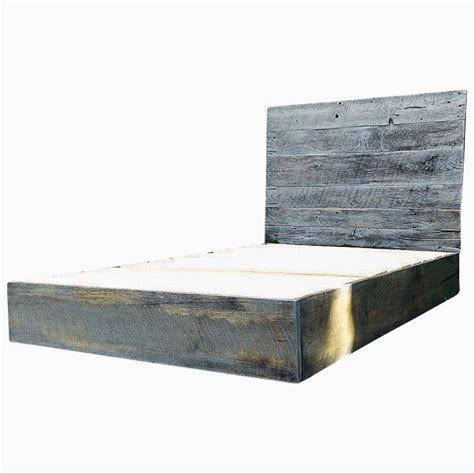 graues holzbett buy a custom weathered grey reclaimed barn wood platform