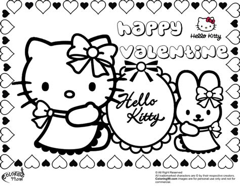 valentines day coloring pages hello kitty hello kitty valentine coloring pages asoboo info