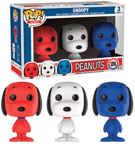 Pop Nosh The Other Blogs Edition by Peanuts Pop Vinyl Figure Snoopy 3 Pack Rock The Vote