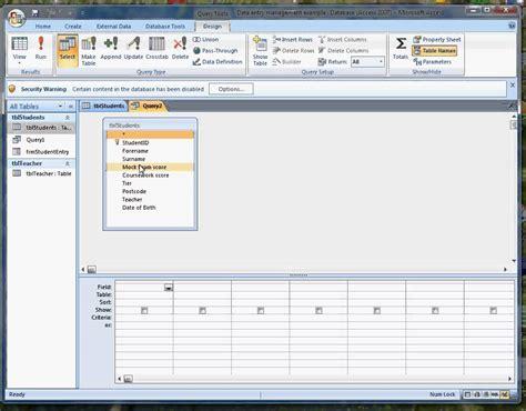 tutorial video access microsoft access queries tutorial