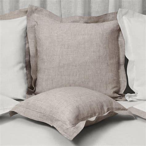 federa cuscino federa cuscino in lino cornice naturale cuore di lino