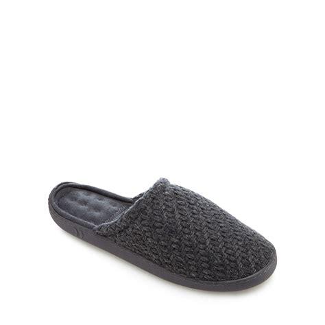 debenhams slippers totes mens grey textured knit slippers from debenhams s ebay
