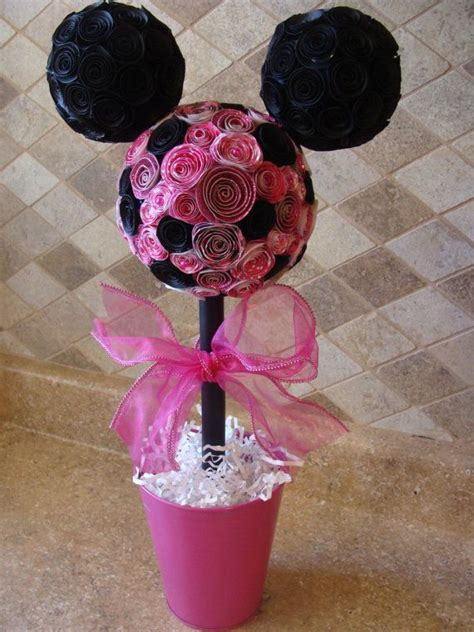 Minnie Mouse Table Decorations by Minnie Mouse Topiary For Birthday Or Table