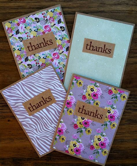 best 25 handmade thank you cards ideas on