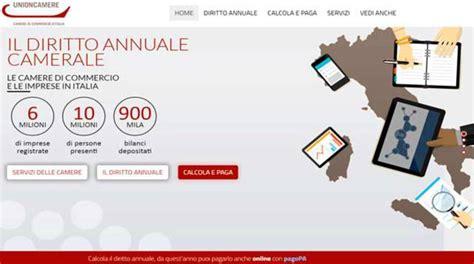 pagamento diritto annuale di commercio di commercio da quest anno on line il calcolo e il
