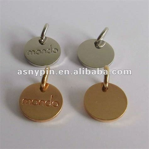 printable metal tags various shapes 3d blank metal jewelry tag customized