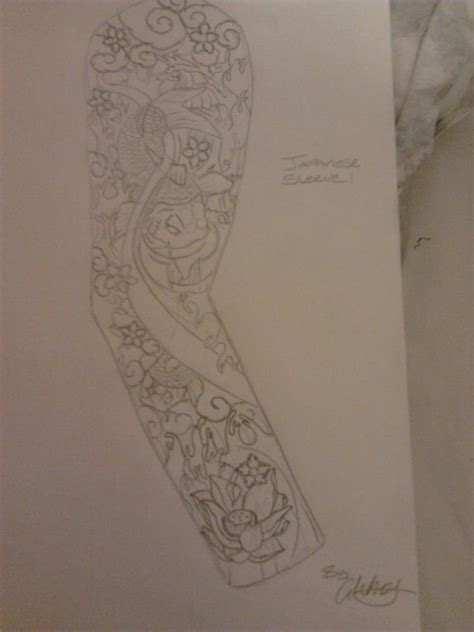 japanese tattoo sleeve design by whatey88 on deviantart