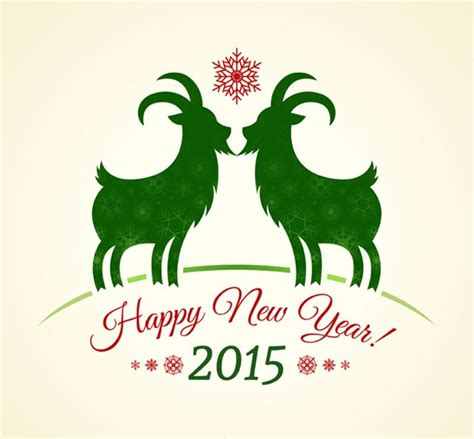 new year 2015 goat or ram 2015 green goat year background vector graphics my free