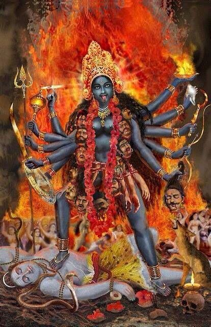 Kali On A Rage lord shiva shiva and goddesses on