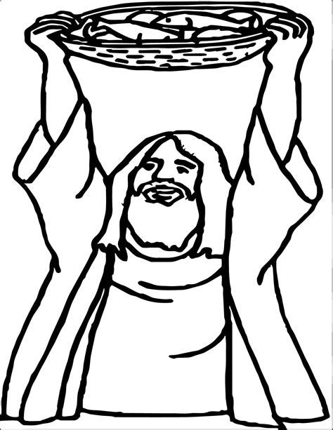 coloring page five loaves two fish 5 loaves and 2 fish god prayer coloring page wecoloringpage