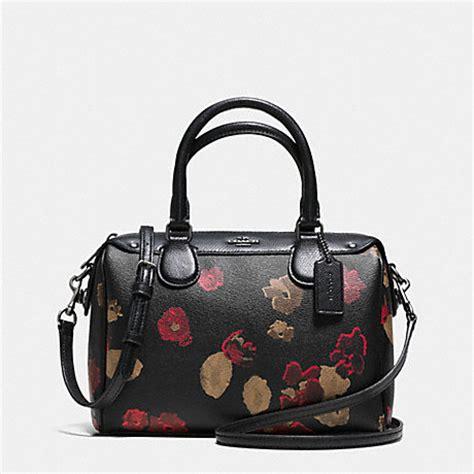 Coach Mini Bennet By Bebititota coach f37060 mini satchel in black floral coated