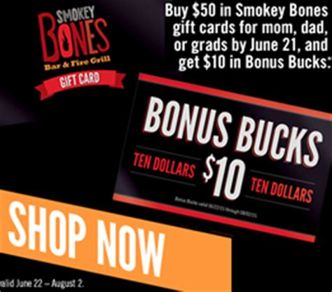 Smokey Bones Gift Card - restaurant deals for the weekend beyond totallytarget com