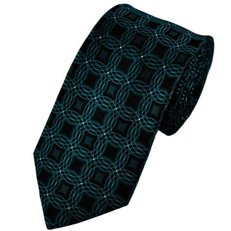 black grey blue geometric patterned silk tie from ties
