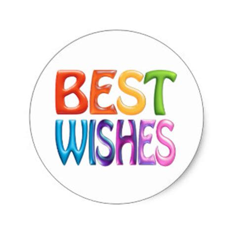 best wishes in best wishes stickers zazzle