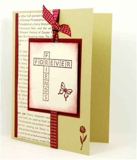 friends forever on this handmade friendship greeting card