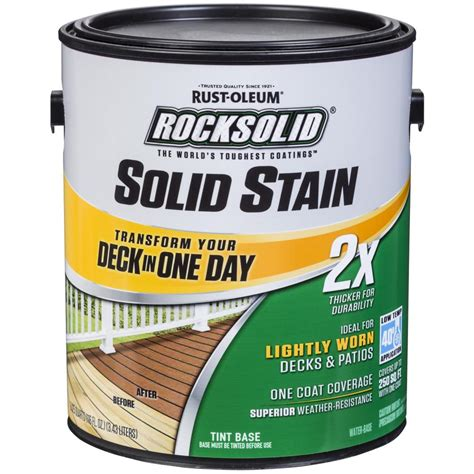 rust oleum rocksolid  gal black exterior  solid stain