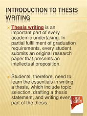 Image result for what is the importance of thesis writing