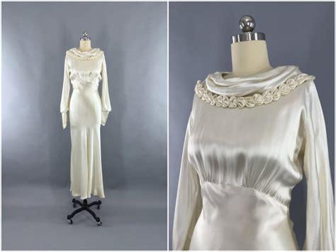 Vintage 30 S Wedding Dresses by Vintage 1930s Wedding Dress 30s Bias Cut Dress 1930