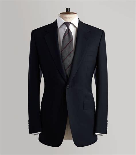 Azkar Parka Pocket Classic Hitam navy twill weave wool sb suit huntsman