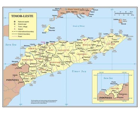 east timor map asia maps of east timor detailed map of east timor in