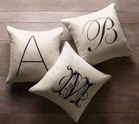 Monogram Pillows Pottery Barn by Personalized Alphabet Pillow Cover Pottery Barn