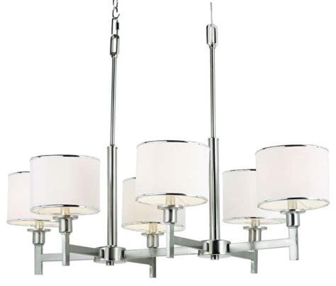Brushed Nickel Drum Chandelier Six Light Brushed Nickel Drum Shade Chandelier Chandeliers By We Got Lites