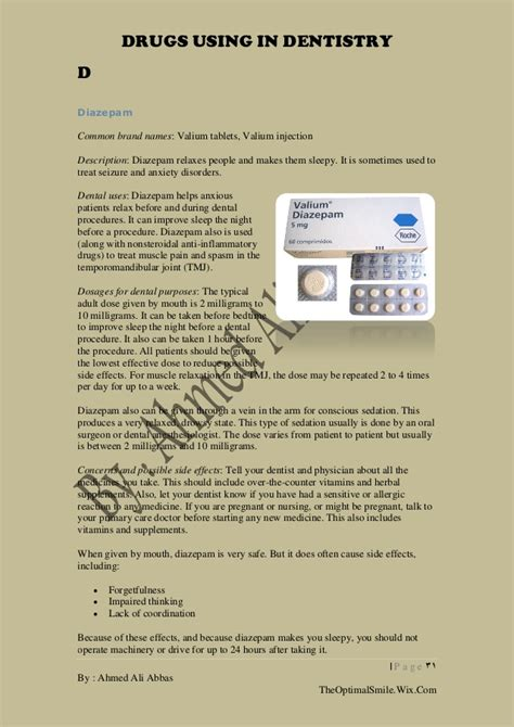 Clonazepam Detox Protocol by Valium Used In Dental Procedures