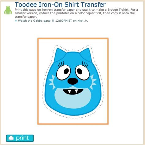 how to make printable iron on transfers 125 best party gabba crafts favors fun games images