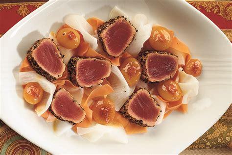 cucinare tranci di tonno ricetta trancio di tonno al pepe nero la cucina italiana
