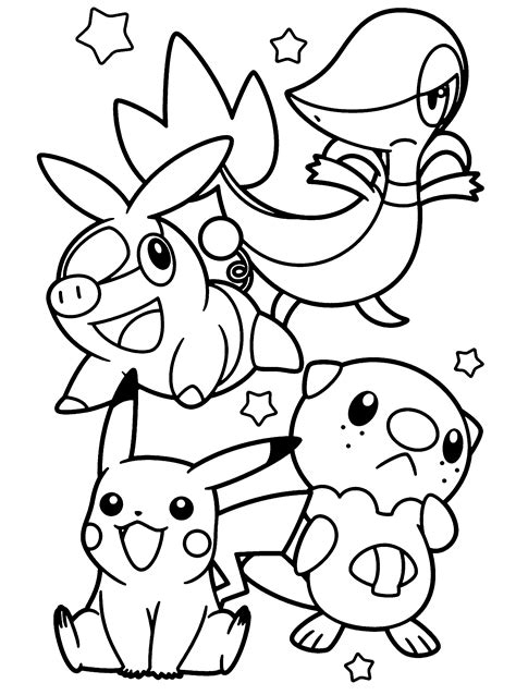 pokemon coloring pages of snivy free coloring pages of pikachu snivy