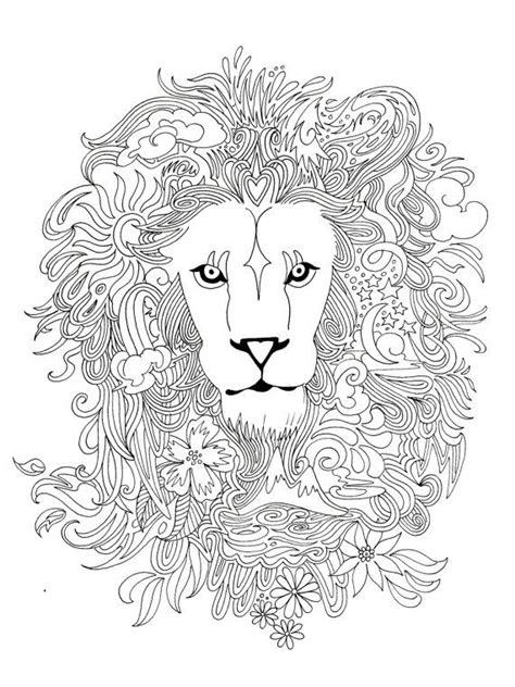 coloring lion tiger images  pinterest adult