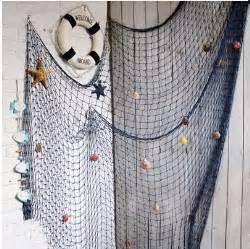 1 2m 2 4m blue white fishing net bar 3d wall decoration